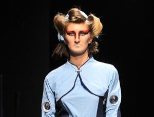 Space tourists might enjoy this tailored approach to the classic flight jumpsuit, one of the winners of a Tokyo-based design contest co-sponsored by Rocketplane Global. The suit was modelled in February during New York's Couture Fashion Week
