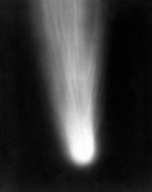 Halley's Comet, the most famous of all the comets, photographed in 1910