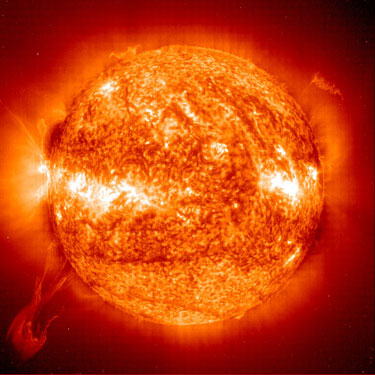 Our sun is a normal-sized star, but it will not remain in its current stable state for ever. Prominences like the one shown in this image are insignificant compared to the changes it will ultimately undergo