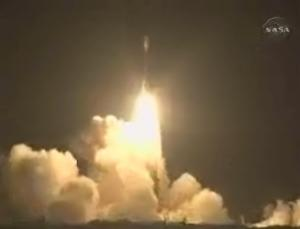 Kepler's lift-off lit up the night sky at its launch site in Florida