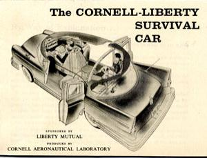 Survival Car II was a modified 1960 Chevrolet Bel Air retrofitted with futuristic safety features