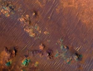 A NASA orbiter set to launch towards Mars in 2016 will focus on measuring trace atmospheric gases like methane, which might have a biological source. This region of Mars, called Nili Fossae, appears to be a 'hotspot' for the gas