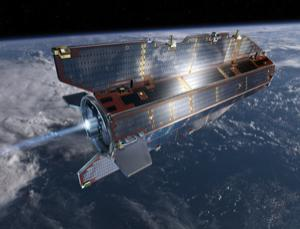 GOCE, which launched on Tuesday, is set to offer 100-kilometre-resolution maps of Earth's entire gravity field, the most detailed yet. Its maps could help refine climate change projections and illuminate features beneath the planet's surface (Illustration: ESA/AOES Medialab)