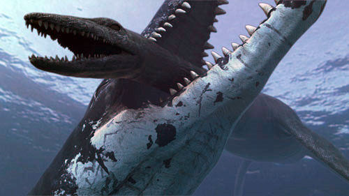 The pliosaur had a huge skull and a bite four times the force of T rex's (Illustration: Atlantic Productions)
