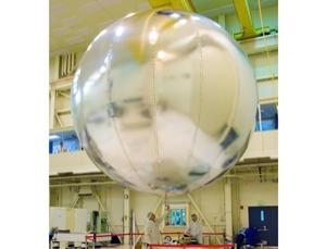 An aluminium-coated balloon that could be used to explore Venus for weeks is being tested at NASA's Jet Propulsion Laboratory