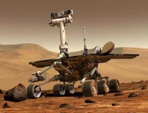 The Mars rover Opportunity is experiencing a problem with its right-front wheel. The team hopes rest and driving backwards will extend the wheel's life (Illustration: NASA/JPL)