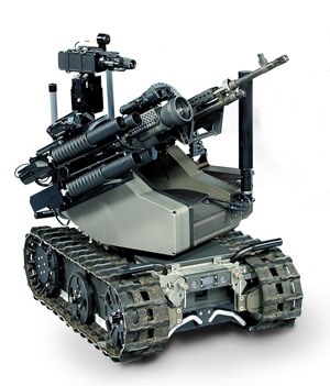 The MAARS robot is used by the US military, but who would be responsible if anything went wrong with it?