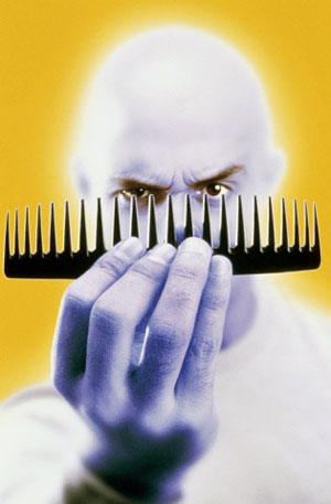 One of the best tactile illusions involves nothing more than a comb