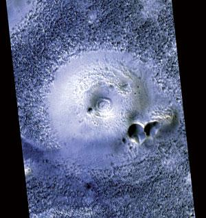 Mounds at a site in the northern plains of Mars bear a striking resemblance to mud volcanoes on Earth