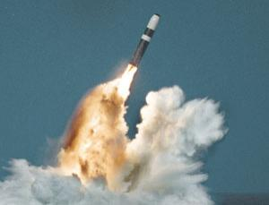 A Trident II (D-5) missile launches