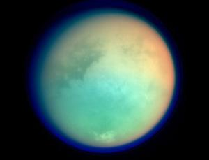 Titan may look like a sphere, but radar studies by the Cassini probe show it is slightly squashed