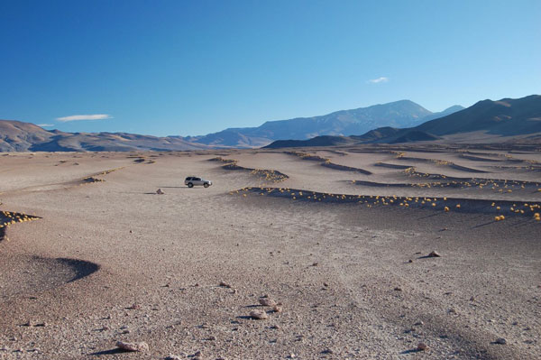 The winds on Argentina's Puna plateau have formed a vast geological feature