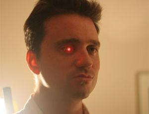 Film maker Rob Spence has already fitted an LED light inside his prosthetic eye. For more images click link in text on left
