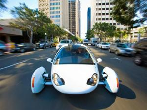 This electric car made by Californian firm Aptera is just one of the 111 hopefuls entering the Auto X Prize. Click the gallery link in the main text, left, to see some of the other vehicles taking part