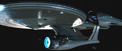 The new Enterprise is sleeker and has a
