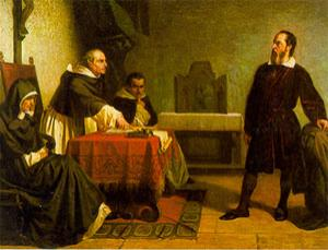 Galileo facing the Roman Inquisition (Painting by Cristiano Banti)