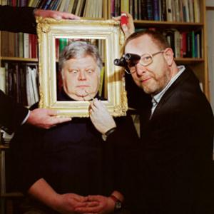 Peter Paul Biró (in the frame) and Nicholas Eastaugh use forensic techniques to find out if works of art are authentic