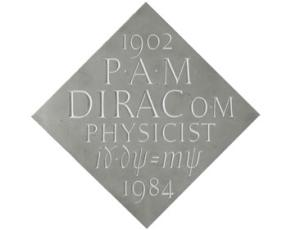 This commemorative plaque shows the Dirac equation