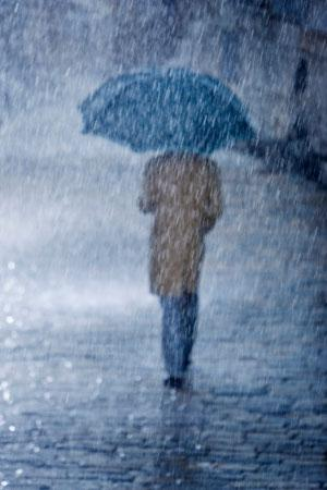 It's bucketing down, up to 10 times faster than was thought possible