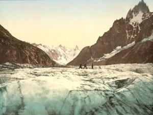 Mer de Glace, Mont Blanc, Chamonix Valley, France, between 1890 and 1900
