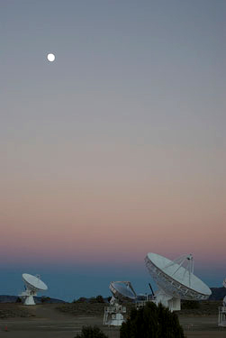 The Combined Array for Research in Millimeter-wave Astronomy (CARMA), built on a new high-altitude site in eastern California, is a university-based array consisting of six 10.4-metre, nine 6.1-metre, and eight 3.5 metre antennas, which are used in combination to image the universe at millimetre wavelengths