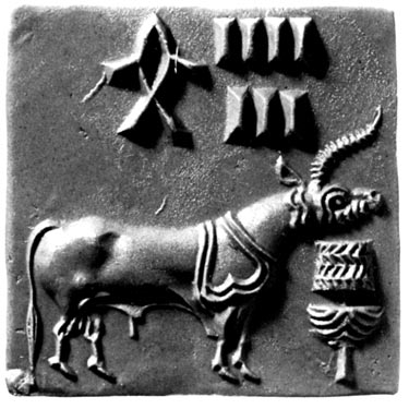 Indus script is a long way from being deciphered. Popular symbols within this script include the fish, as seen in this image