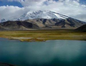 As ice melts from glaciers in the region, lower lying land like that along the Silk Road floods