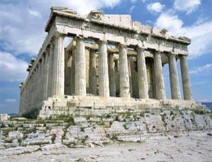The Parthenon would once have been much more gaudy