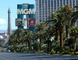 Leafy areas such as The Strip in Las Vegas could contain higher levels of ozone