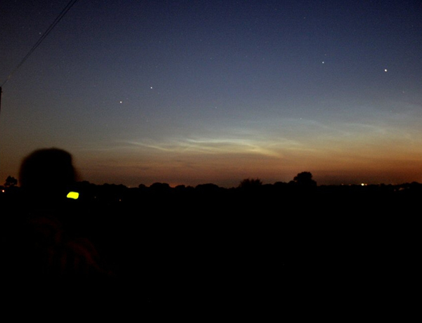 Noctilucent clouds, like these imaged on 29 May from Northern Ireland, are so high up that they reflect sunlight even after the sun has set. Strange, glowing clouds that were likely noctilucent clouds were seen soon after the Tunguska explosion