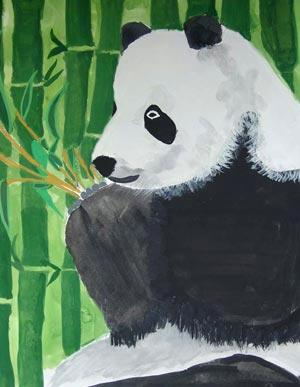 A more conservative but well-executed panda scene was deemed 'good' art