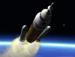 One alternative rocket, called Jupiter, was designed by moonlighting NASA engineers (Illustration: DirectLauncher.com)