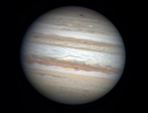 Amateur astronomer Anthony Wesley snapped this image of the new black spot (near the top of Jupiter's disc) on Sunday, just after discovering it