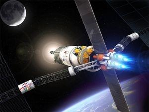 The VASIMR ion engine could - if powered by an onboard nuclear reactor - take astronauts to Mars in just 39 days (Illustration: Ad Astra Rocket Company)