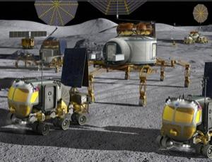 NASA envisions caravan-like exploration of the moon and outposts that could subsist on nuclear power (Illustration: NASA)
