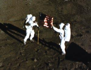 The presence of the US flag hasn't stopped other nations lusting after lunar glory