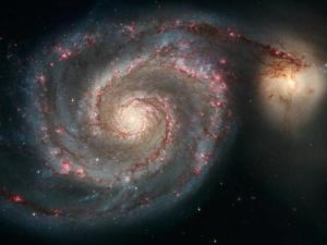 The graceful, winding arms of the spiral galaxy M51