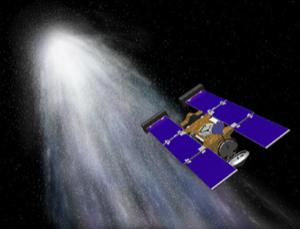 An amino acid called glycine has been found in dust collected by the Stardust spacecraft, which flew by Comet Wild 2 in 2004 (Illustration: NASA/JPL)
