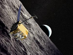 Last week, NASA's LRO (illustrated) and India's Chandrayaan-1 probes flew near each other to compare radar soundings of the moon. It may be the only time the two spacecraft perform such a joint measurement, since LRO will soon move to a lower orbit than Chandrayaan-1 in order to begin its main observing phase (Illustration: NASA)