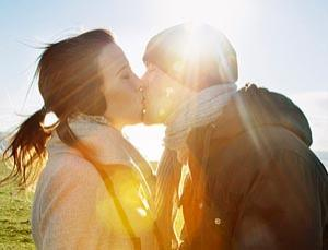 The urge to kiss is not brought about by genes