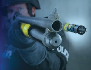 What do you get if you cross a shotgun with a stun gun?