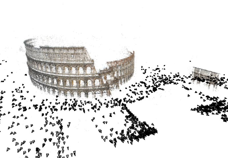 Rome in 3D.  A mapping of the Colosseum created from tourist snaps.