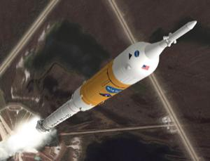 The Ares I rocket meant to replace the space shuttle will not be ready until two years after the space station is scheduled to be abandoned, says a blue-ribbon panel (Illustration: NASA/MSFC)
