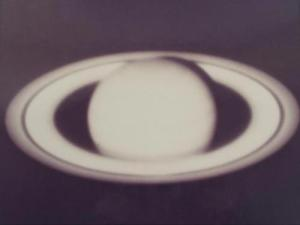This photograph of Saturn, taken on film by Stephen Larson in 1974, was in its day the best image of the ringed planet ever taken.