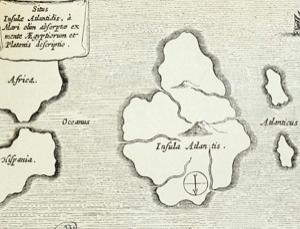 The legendary island as depicted in a 17th century engraving