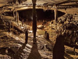 Breath to produce stalactites