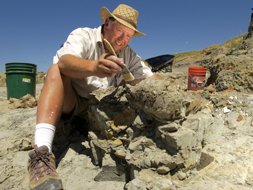 Nate Murphy doing what he did best - unearthing dinosaus