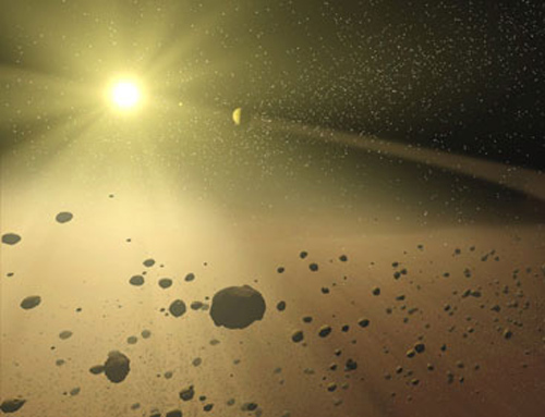 A cloud of comets surrounds the main disc of the solar system - new research suggests the cloud may be more compact than previously thought (Illustration: T Pyle/SSC/JPL-Caltech/NASA)