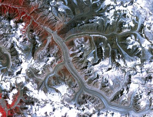 The 30-kilometre Gangotri glacier is steadily retreating
