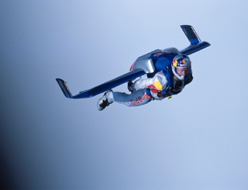 Baumgartner BASE jumps from Calais, France